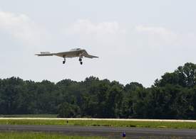 First Flight of X-47B from NAS Patuxent River is Flawless