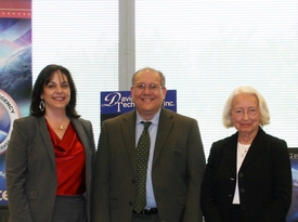 (From left) Kelley Zelickson, Northrop Grumman vice president of air and missile defense systems, Lee Rosenberg, Missile Defense Agency director of the office of small business programs, and Dorothy Davidson, Davidson Technologies chairman, CEO and president, celebrate their Defense Department mentor-protege agreement May 21.