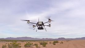 An AirRobot unmanned aerial system flies at Fort Benning, Georgia.  Northrop Grumman Remotec is the sole reseller of the systems to law enforcement and first responders under a distribution agreement signed recently.