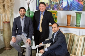 L to R Jay Patel The Franklin Hotel Anthony Carey The Siena Hotel and Nitin Khan